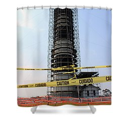 Shower Curtain featuring the photograph Caged Beauty 2 by Tony Cooper