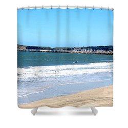 California Beach At El Granada Shower Curtain by Carolyn Donnell