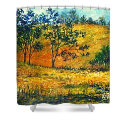 California  Fields Shower Curtain