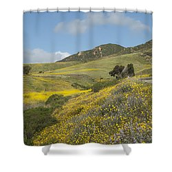 California Hillside View I Shower Curtain