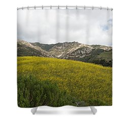 California Hillside View V Shower Curtain
