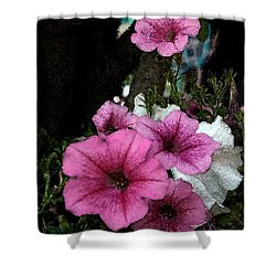 California Petunias Shower Curtain by Karen Harrison