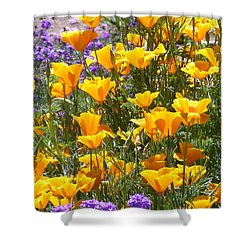 Shower Curtain featuring the photograph California Poppies by Carla Parris
