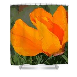 California Poppy2 Shower Curtain