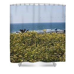 California Wildflowers Shower Curtain by Daniel  Knighton