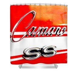 Shower Curtain featuring the digital art Camaro Ss Flank by Tony Cooper