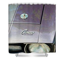 Camaro Ss With Hood Pin Shower Curtain by Paul Ward