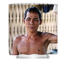 Cambodian Dignity Shower Curtain by Nola Lee Kelsey