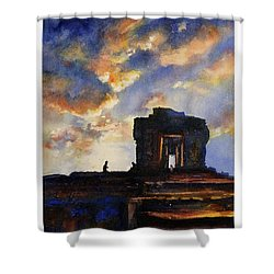 Cambodian Sunset Shower Curtain by Ryan Fox