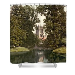 Cambridge - England - St. Johns College Chapel From The River Shower Curtain by International  Images