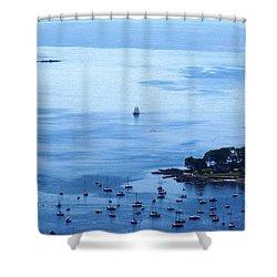 Camden Harbor Shower Curtain by Joe Faherty