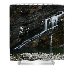 Cameron Falls Waterton Lakes National Park Shower Curtain