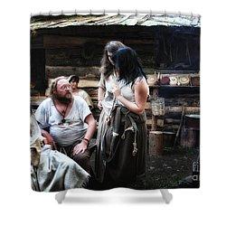 Camp Life Shower Curtain by Jutta Maria Pusl