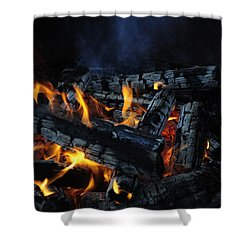 Shower Curtain featuring the photograph Campfire by Fran Riley
