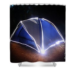 Camping Shower Curtain by Ted Kinsman