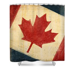 Canada Flag Shower Curtain by Setsiri Silapasuwanchai