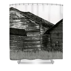 Canadian Barns Shower Curtain by Jerry Fornarotto