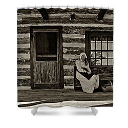 Canadian Gothic Sepia Shower Curtain by Steve Harrington