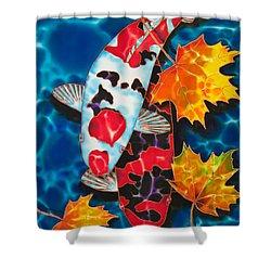 Canadian Koi Shower Curtain by Daniel Jean-Baptiste