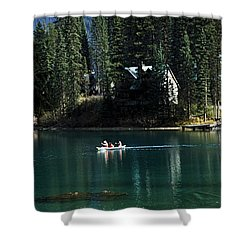 Canadian Rockies Shower Curtain by John Doornkamp