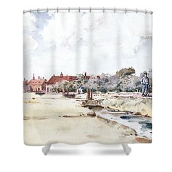 Canal Scene Shower Curtain by Childe Hassam
