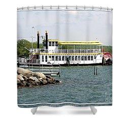 Canandaigua Lady Paddleboat Shower Curtain by Rose Santuci-Sofranko