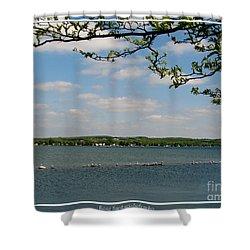 Canandaigua Lake Shower Curtain by Rose Santuci-Sofranko