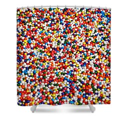 Candy Balls Shower Curtain by Methune Hively