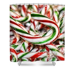 Shower Curtain featuring the photograph Candy Canes by Traci Cottingham