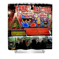 Shower Curtain featuring the photograph Candy Factory by Renee Trenholm