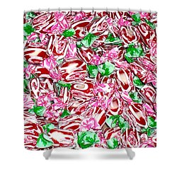Candy Is Dandy Shower Curtain by Beth Saffer