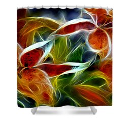 Candy Lily Fractal  Shower Curtain by Peter Piatt