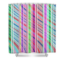 Candy Stripe Shower Curtain by Louisa Knight