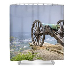 Cannon 2 Shower Curtain by David Troxel