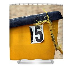 Canoe Details Shower Curtain by Valentino Visentini