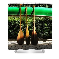 Shower Curtain featuring the photograph Canoe To Nowhere by Alec Drake