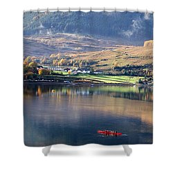 Shower Curtain featuring the photograph Canoeing On Loch Goil by Lynn Bolt