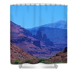 Canyon Colors Shower Curtain by Dany Lison