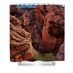 Canyon Glow Shower Curtain by Rick Berk