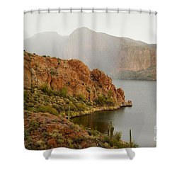 Shower Curtain featuring the photograph Canyon Lake by Tam Ryan