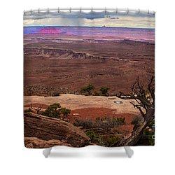 Canyonland Overlook Shower Curtain by Robert Bales