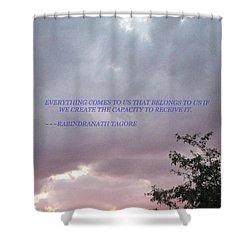 Capability Shower Curtain by Sonali Gangane
