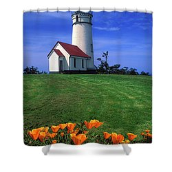 Cape Blanco Lighthouse Oregon Shower Curtain by Dave Mills
