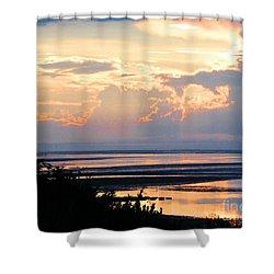 Shower Curtain featuring the photograph Cape Cod Beach Brewster by Lizi Beard-Ward