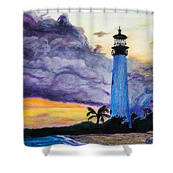 Cape Florida Lighthouse Shower Curtain by Roger Wedegis