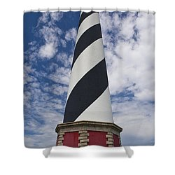 Cape Hatteras From Below Shower Curtain by Tim Mulina
