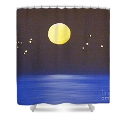 Capricorn And Libra Shower Curtain by Alys Caviness-Gober