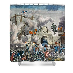 Capture Of Bastille, 1789 Shower Curtain by Granger
