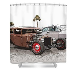 Car Show Cool Shower Curtain by Steve McKinzie