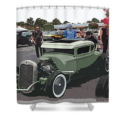 Car Show Coupe Shower Curtain by Steve McKinzie
